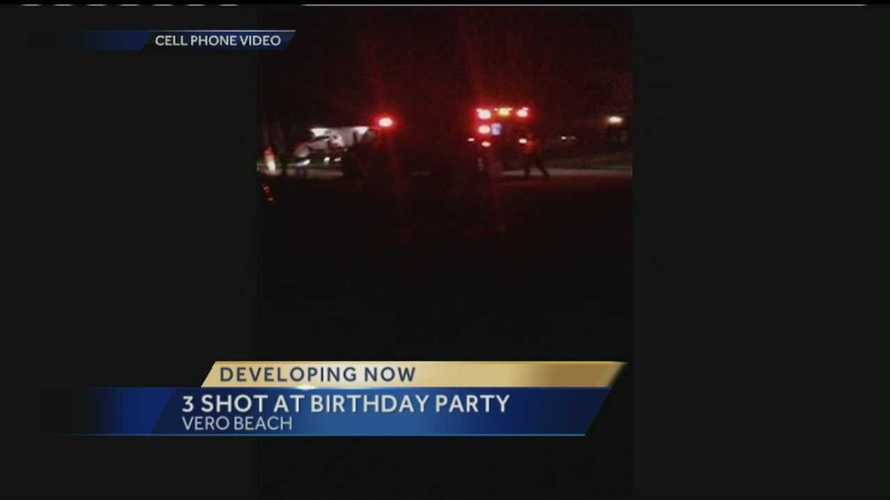 A birthday party in Vero Beach ends in gunfire, sending three teens to the hospital.