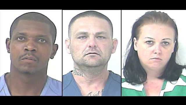 Patrell Bland, Timothy Roche and Judith Roberson were arrested at a Port St. Lucie hotel.