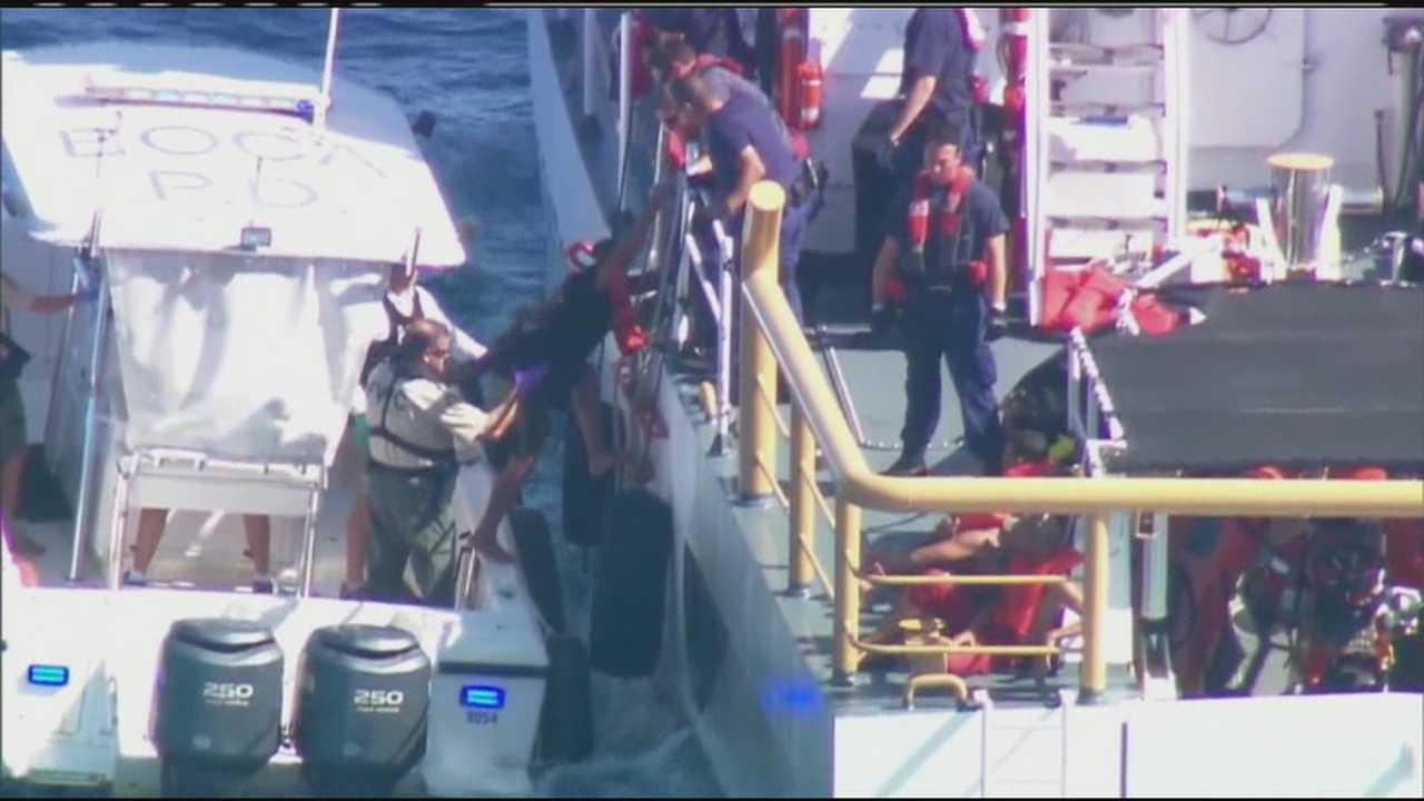 The U.S. Coast Guard intercepts nine Cubans who tried to make it to shore on a raft.