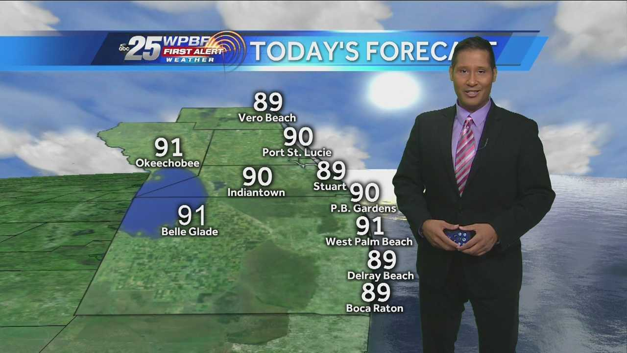 Cris Martinez says it will be a drier day as the heat makes a comeback.
