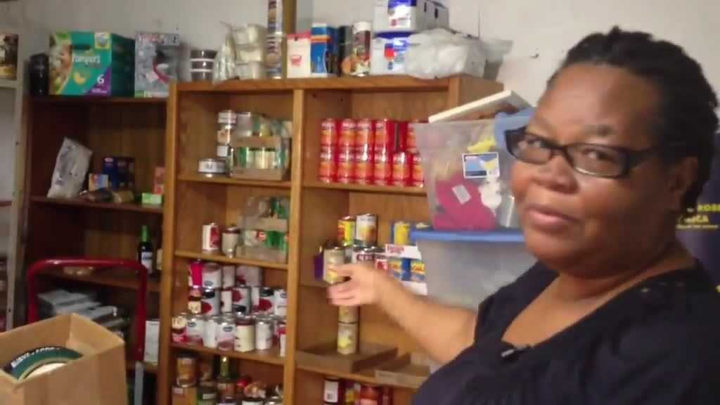 Marie Jean Pierre says donations have been on the decline at Valley of Love Ministries in Riviera Beach.