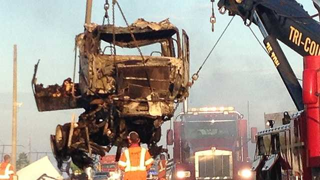 A fiery wreck on Florida's Turnpike caused all kinds of traffic problems early Tuesday morning.