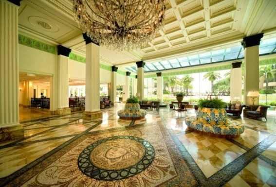 Palazzo Versace, Main Beach, Queensland, Australia: For more than a decade, this opulent Gold Coast hotel has provided travelers with blissful luxury and design influenced by Gianni Versace. Travelers down under will be impressed by the ornate mosaics, Italian marble floors, vaulted ceilings with gold detail, and vibrantly colored rooms. Nightly rates start at $315.