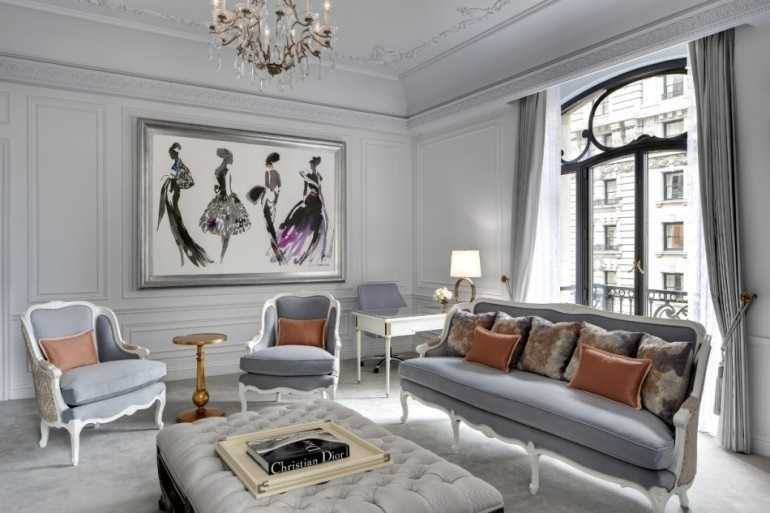 The St. Regis New York, New York City, New York: Located 13 blocks from Bryant Park, fashionistas can enjoy a respite at this opulent hotel. Guests are invited to kick back in the Dior and Tiffany suites designed to emulate the high-end pieces of the designers. Suite amenities include complimentary champagne upon arrival, a private shopping pass to the respective designers' showrooms, and a 24-hour butler. Nightly rates for the suites are $10,500.
