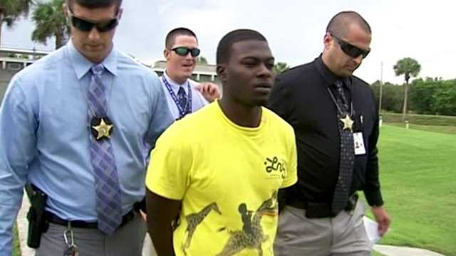 Vero Beach birthday party shooting suspect Jarvis Gaskin is taken into custody in Fort Pierce.