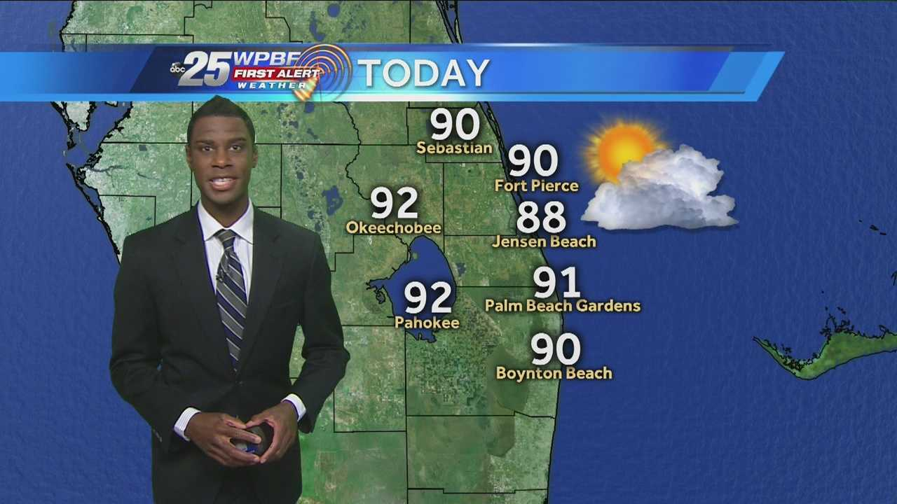 Justin Moseley says there will be a mix of sun and clouds on this steamy Friday morning.