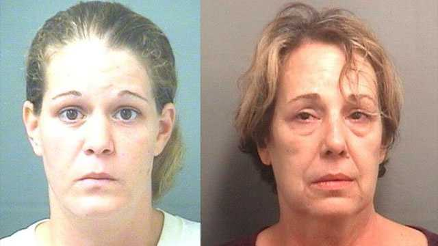 Catherine Hubartt (left) died of a drug overdose shortly after she was released from the Palm Beach County Jail, where she witnessed the death of cellmate Linda Cafarelli.