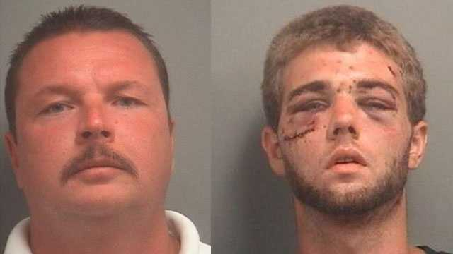 Officer Kevin Jacko (left) is accused of using excessive force during the July arrest of Cody Blankenship.