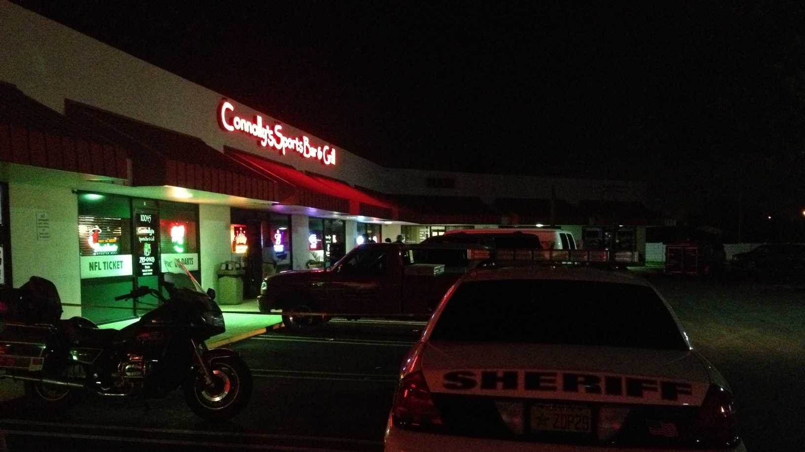 Four people were injured in a bar brawl at Connolly's Sports Bar & Grill in Royal Palm Beach.