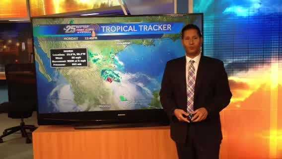 Cris says that although there are two active storms right now in the tropics, neither is expected to cause any harm to the United States.