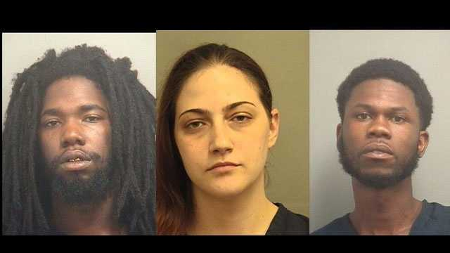 Lionel Cobb, Shelley Davis and Andrew Leonard were arrested after they were found sleeping in a Boynton Beach house, police say.