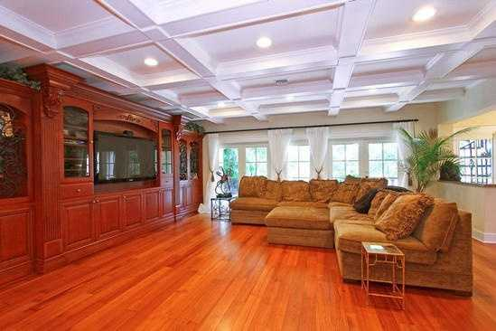 The entire family can relax in this generous, comfy family room.