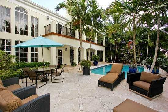 Great outdoor space to entertain and relax after take a dip in the salt-water pool.