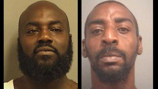 Moses Mitchell and Reginald McKelvin were arrested during a drug raid.