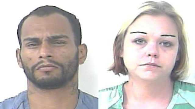 Anthony Cavil and Linsay Johnson were arrested in Port St. Lucie.