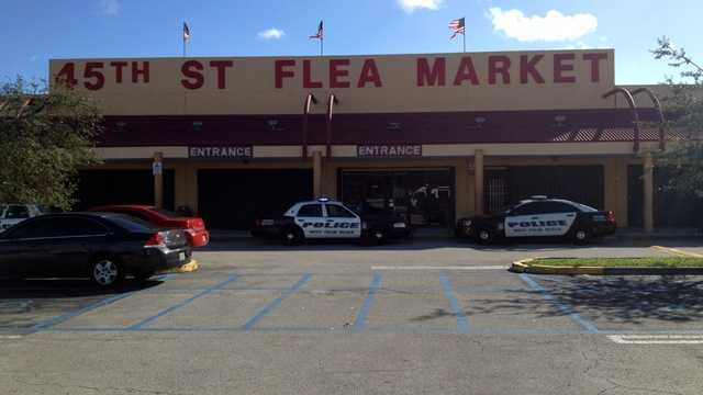 One man is in custody after a fatal shooting at the 45th Street Flea Market.