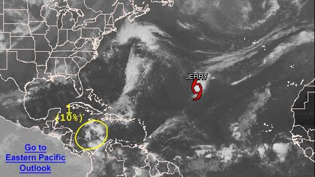 Tropical Storm Jerry forms NHC graphic