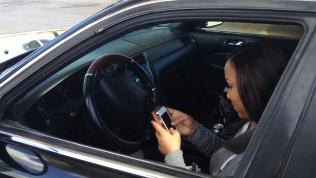 Texting while driving will be against the law come Tuesday.