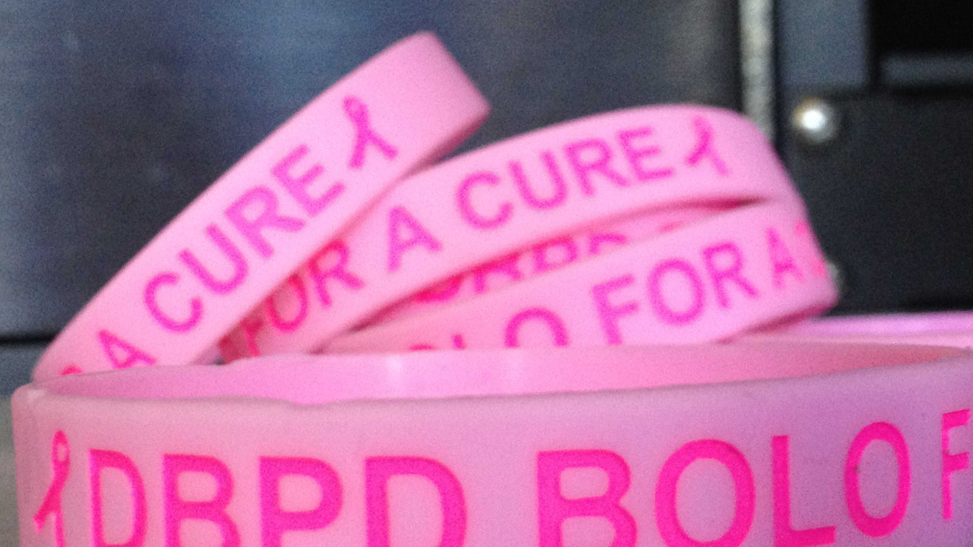 Delray Beach police officers will wear these bracelets during the month of October.
