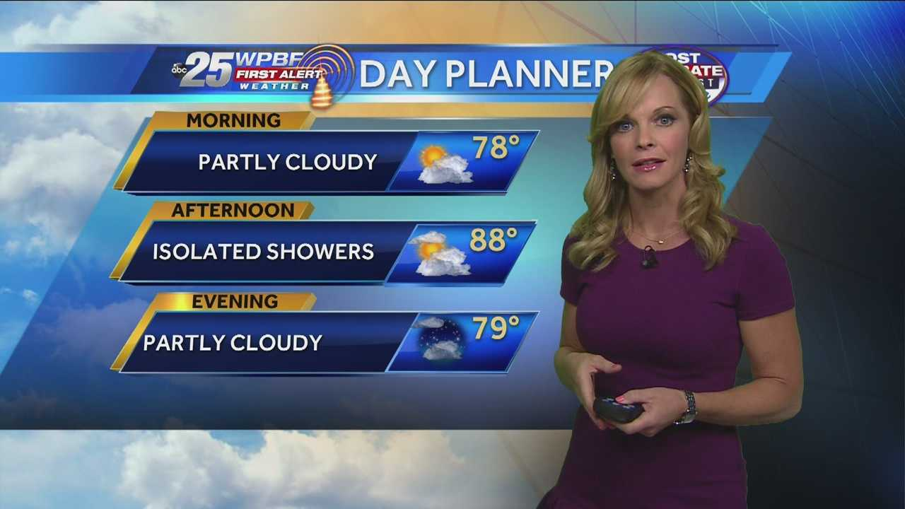 Sandra Shaw says it will be partly cloudy to mostly sunny on this Friday.
