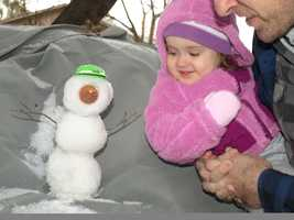 Snowman in Ormond Beach, Florida.  Photograph taken in 2010.