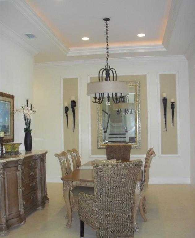 The formal dining room is traditional and seats six comfortably.