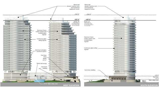 The new proposal for the high-rise condominium at the Chapel by the Lake site calls for two towers instead of one.