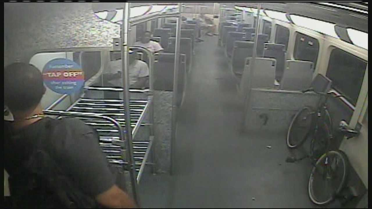 WPBF 25 News obtains surveillance video of a 26-year-old man in the moments before he jumped off a Tri-Rail train to retrieve his cellphone.