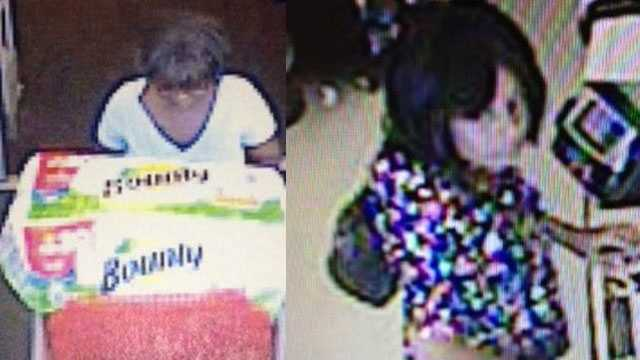 Deputies are trying to identify these two women who used stolen credit cards at a Winn-Dixie and two Target stores in Palm Beach County.