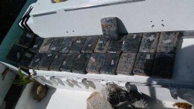 A deputy found these cocaine bricks floating in the ocean off Dania Beach.