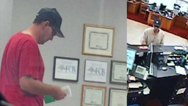 Could the man who tried to rob the Florida Community Bank branch (left) be the same man who robbed the BB&T branch in Boca Raton a few days earlier?