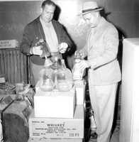 1953: Confiscated moonshine in Duval County.