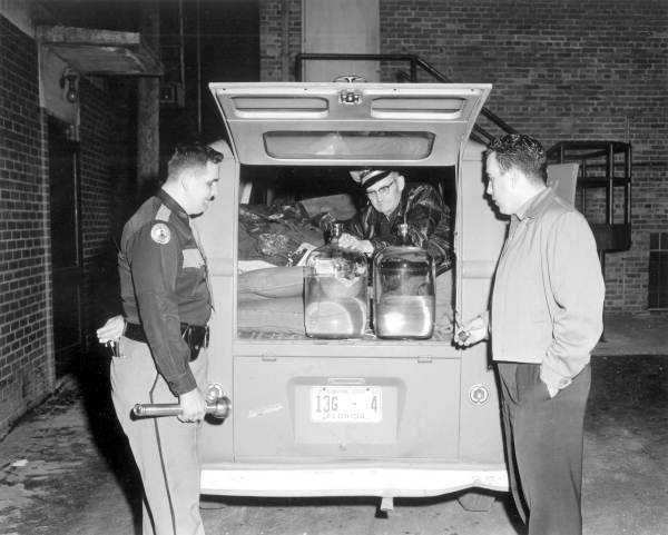 1959: Confiscated moonshine in Tallahassee.