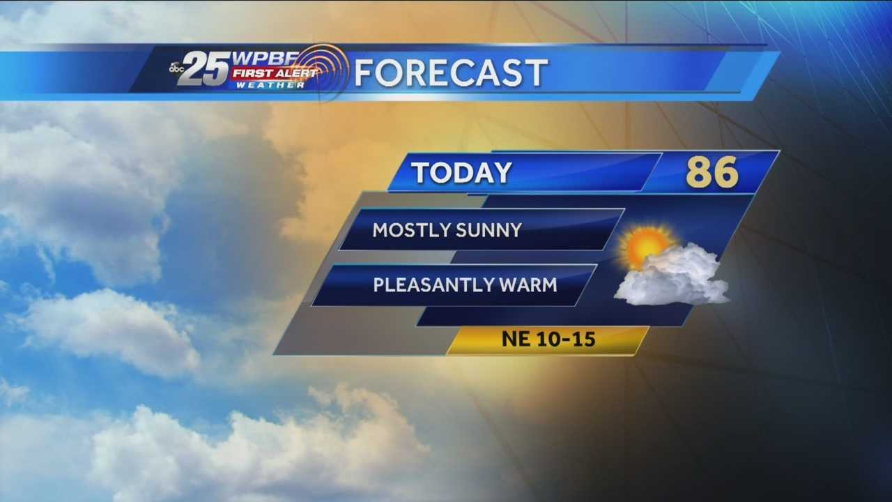 Justin says more comfortable weather is on tap around the Palm Beaches and Treasure Coast.