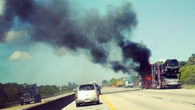 The northbound lanes of traffic were closed as of 3 p.m. Thursday on Florida's Turnpike.