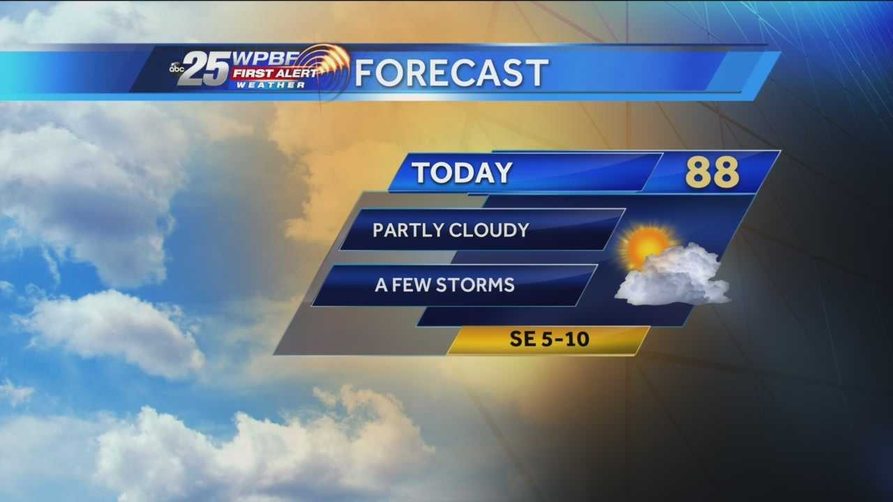 Justin says there's a slightly increased chance of rain around town, but still plenty of sunshine is expected.