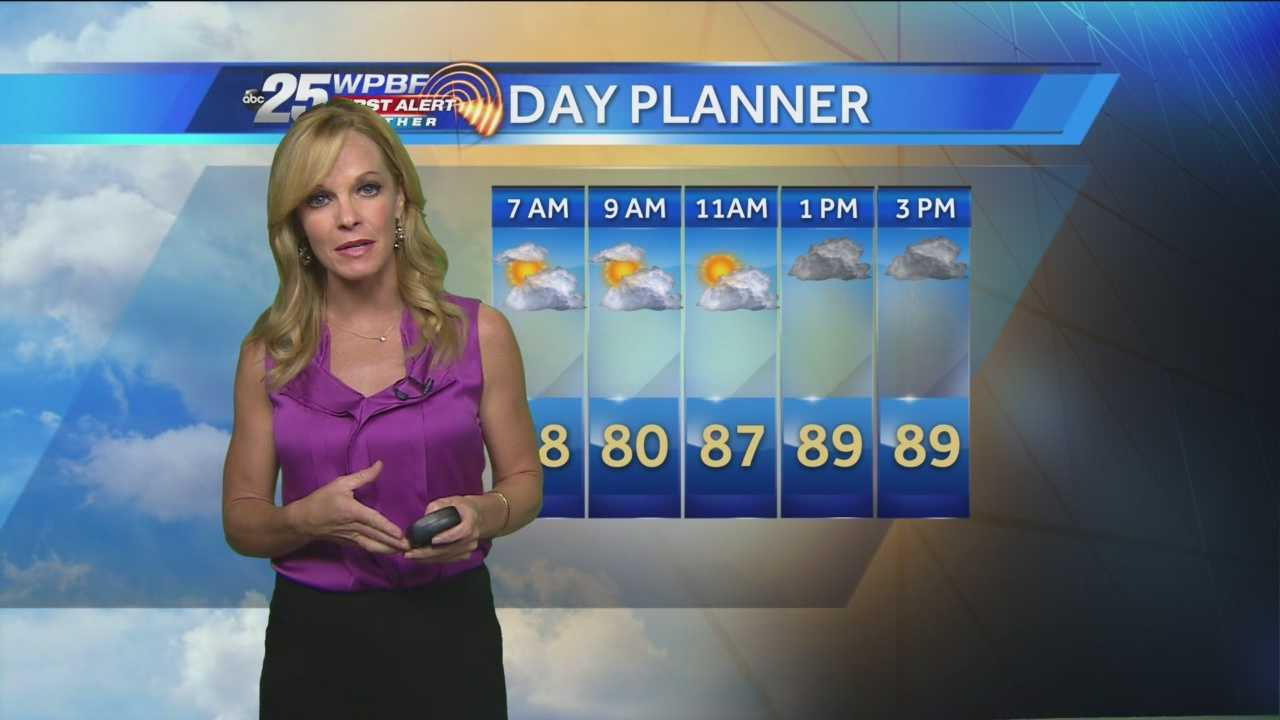 Sandra says more warmer-than-normal conditions are expected around the Palm Beaches and Treasure Coast on Tuesday.