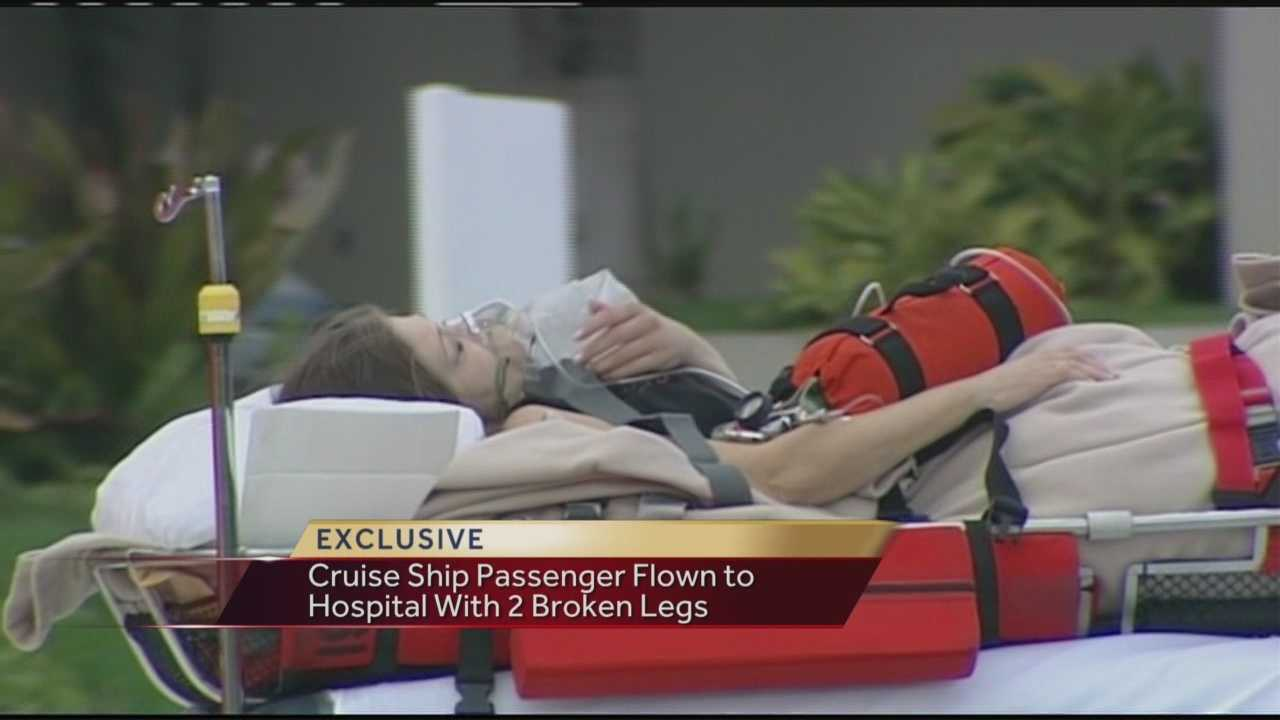 Woman hurt on cruise ship flown to St. Mary's Medical Center