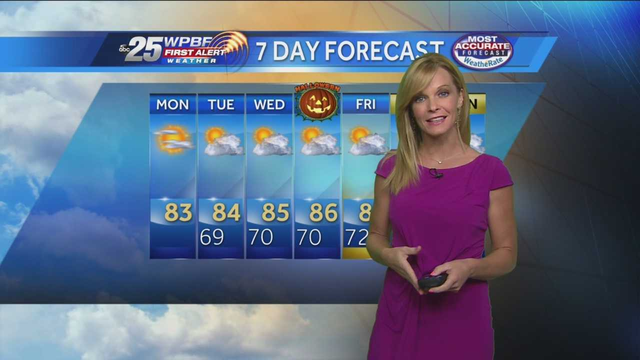 Sandra Shaw says it will be mostly sunny this week in her First Alert Forecast for the morning of Monday, Oct. 28, 2013.
