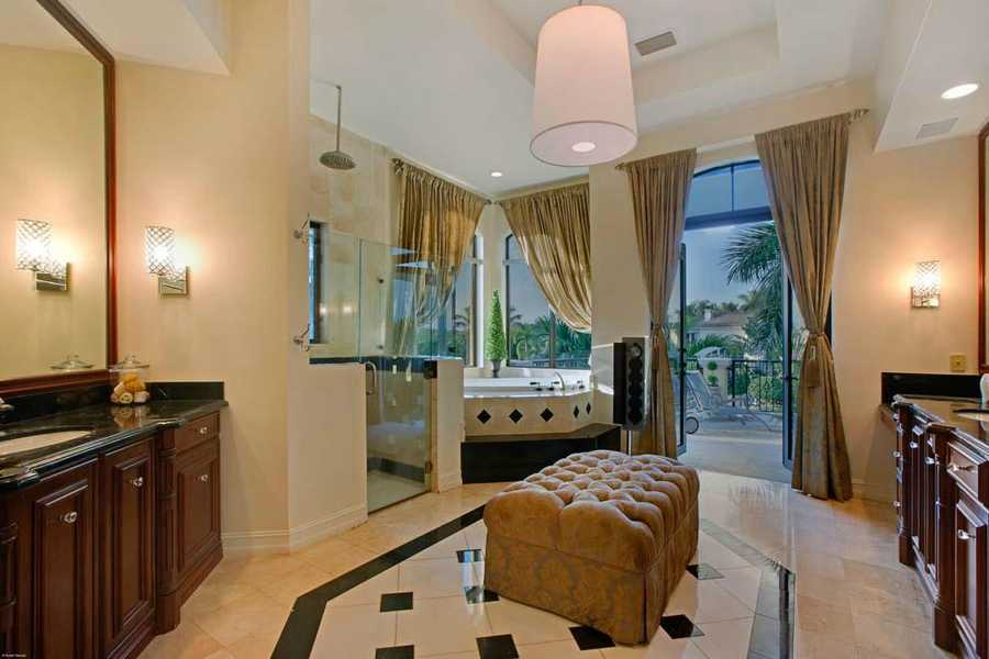 The master bathroom is nothing short of luxurious.
