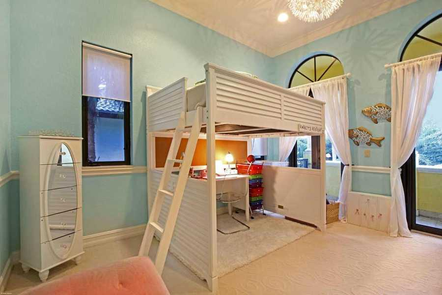 This fun kid's room is the final bedroom in the home.