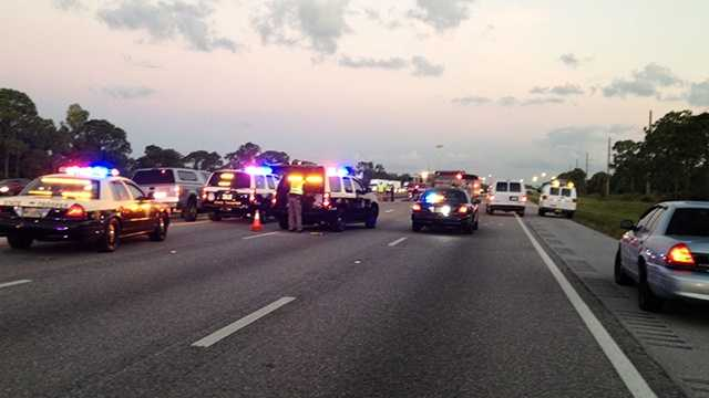 A serious crash left two people dead and kept Interstate 95 closed in Martin County for several hours Wednesday morning.