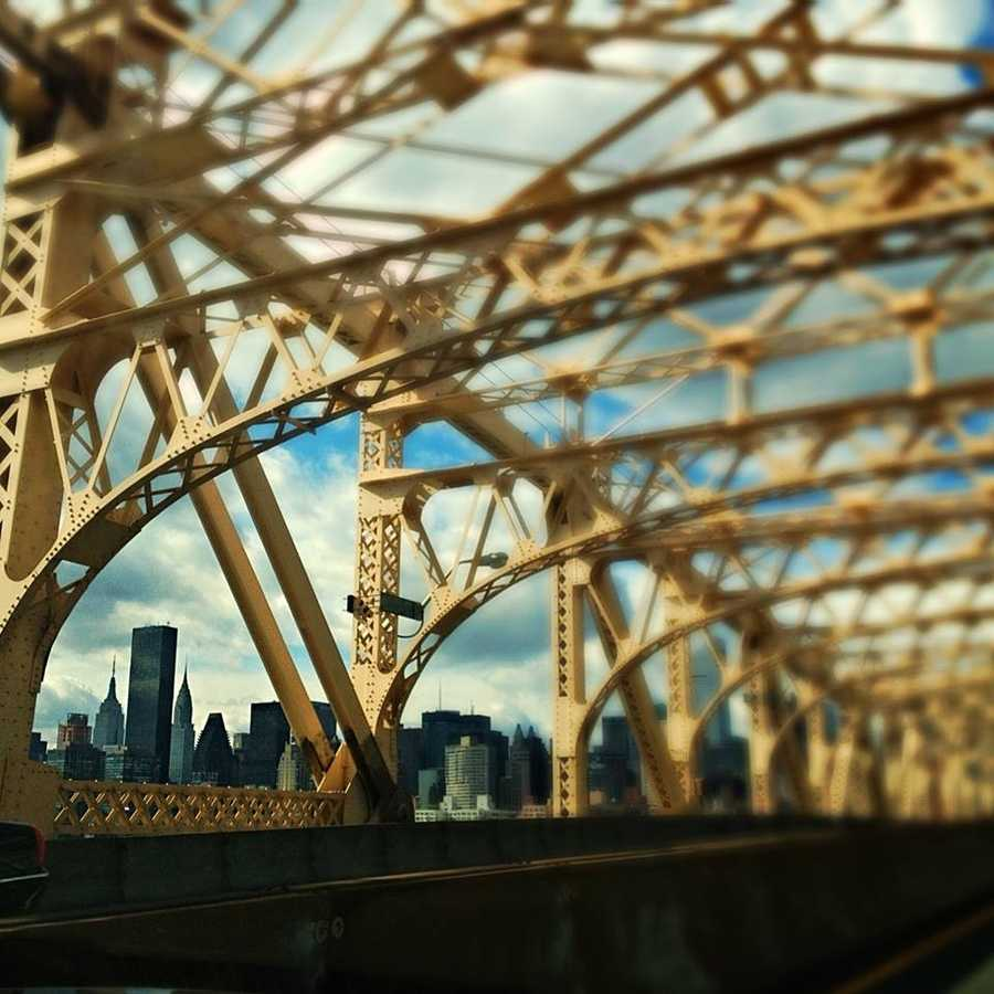 In five years of living in New York, I don't think I ever drove across the Queensboro Bridge, but I drove on it last week!