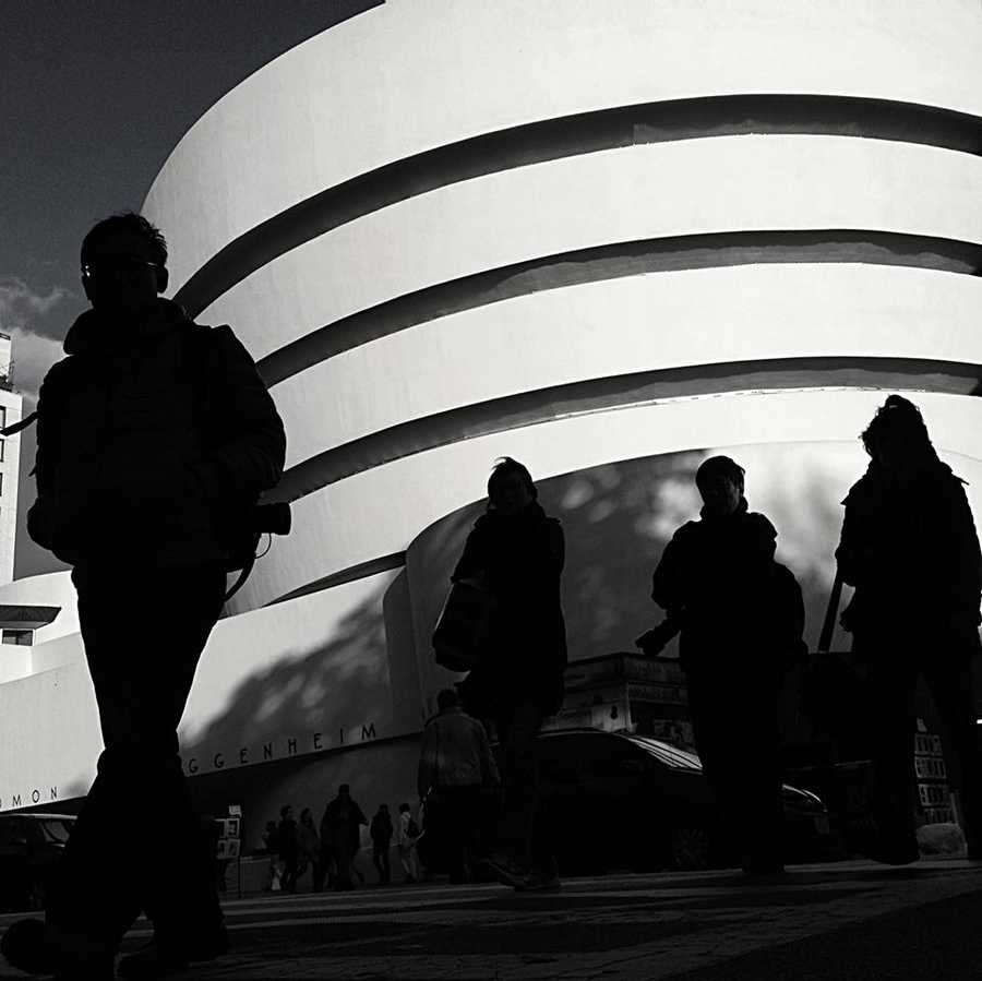 One of my favorite things to photograph in New York, the Guggenheim Museum.