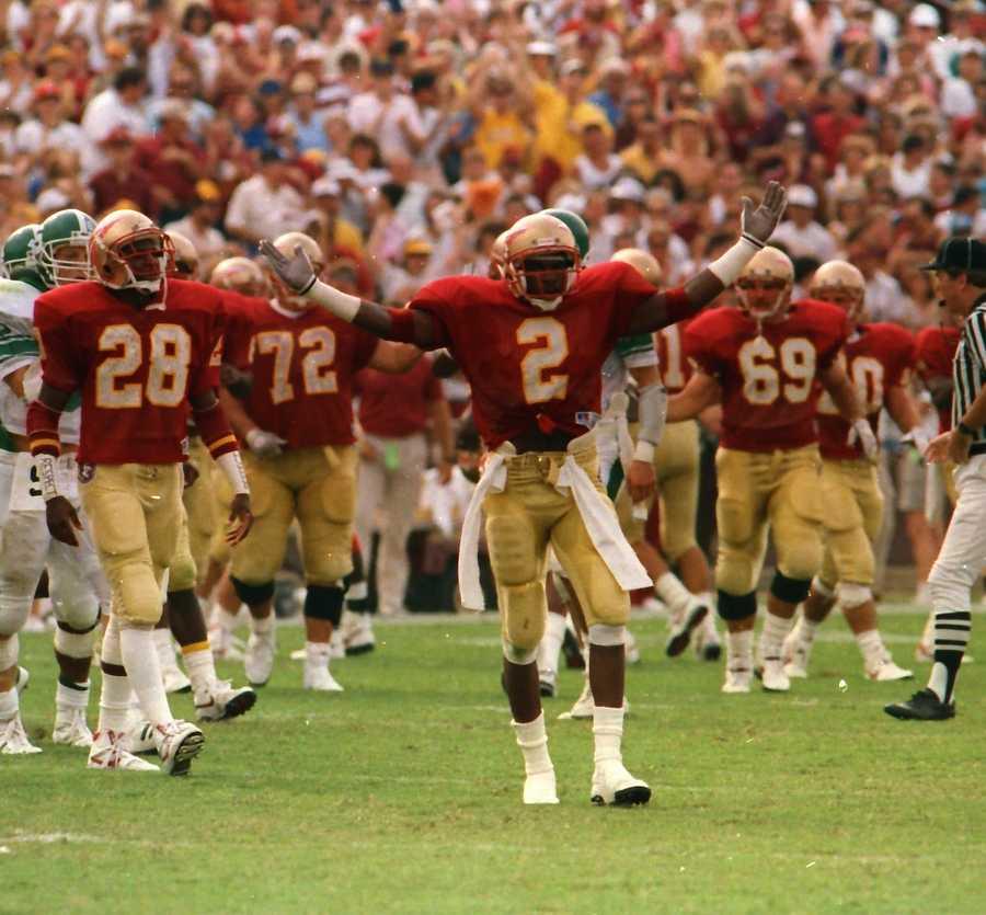 No. 2: Deion Sanders, CB, Florida State (1986-88)
