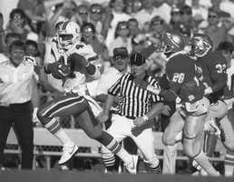 3. Michael Irvin, WR, Miami (1985-87)