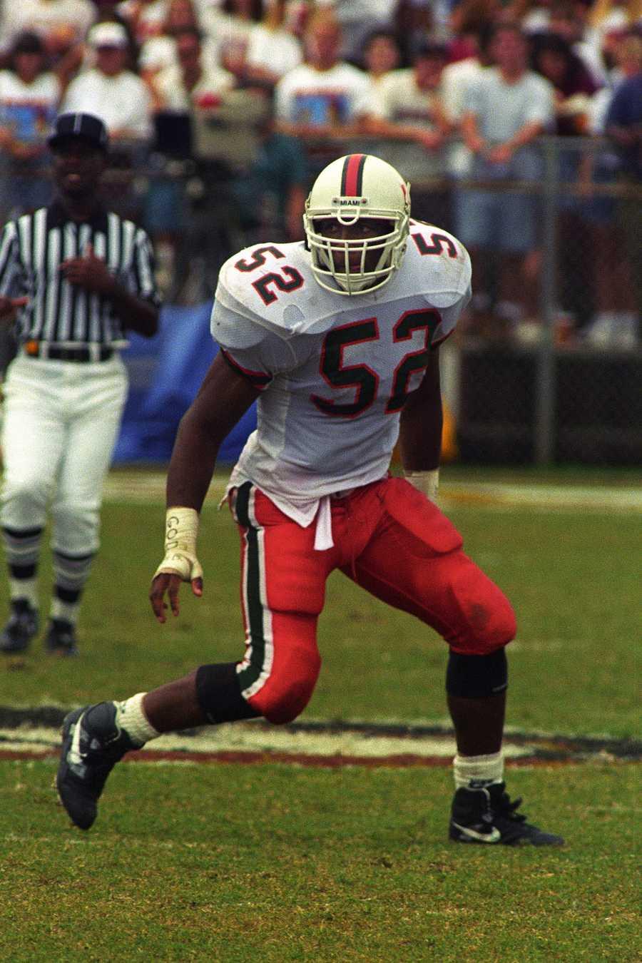 5. Ray Lewis, LB, Miami (1993-95)