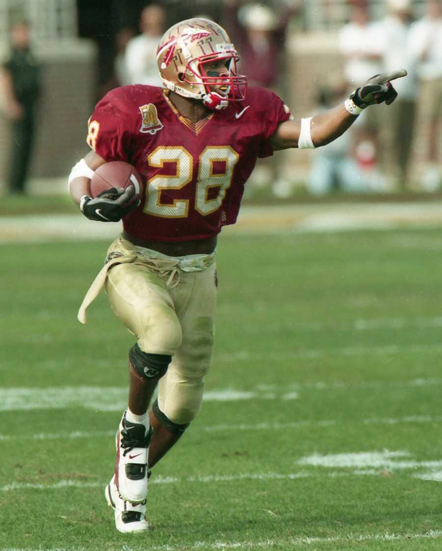 No. 9: Warrick Dunn, RB, Florida State (1993-96)