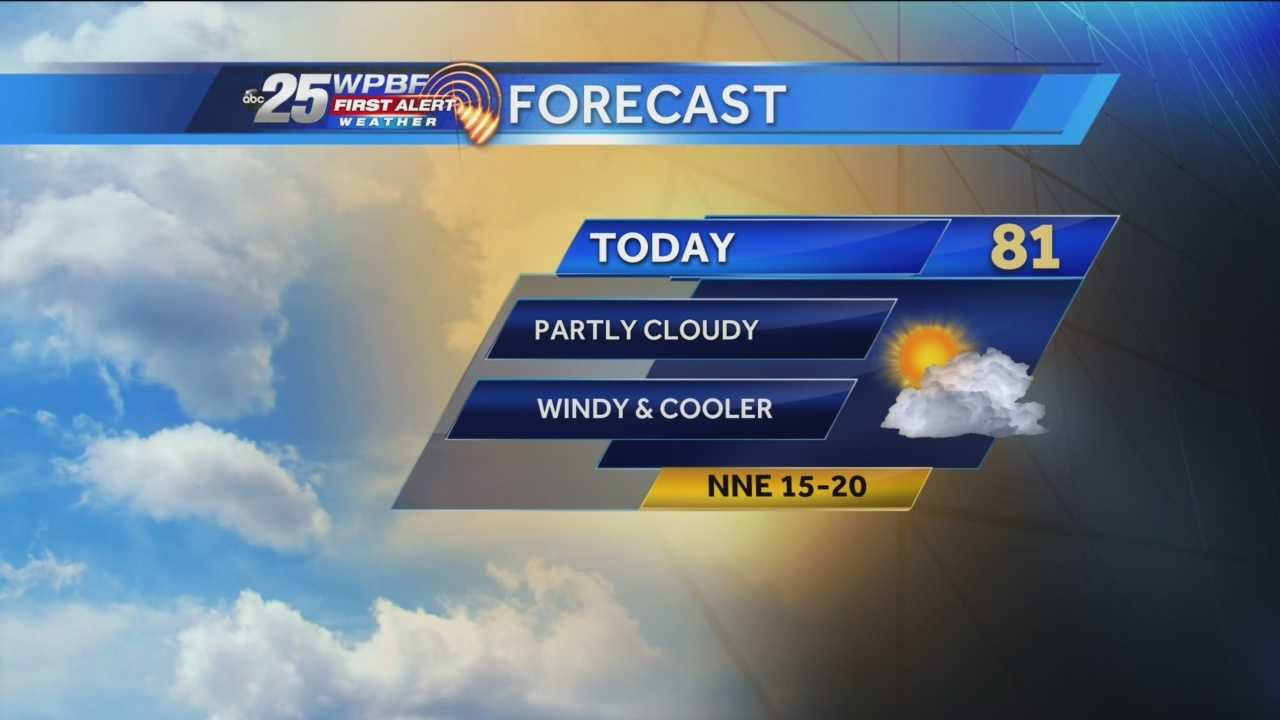 A sunny but breezy Sunday is on tap around South Florida.