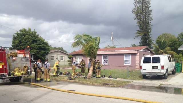 All the children at this Riviera Beach day care are OK after a fire started there Monday morning.